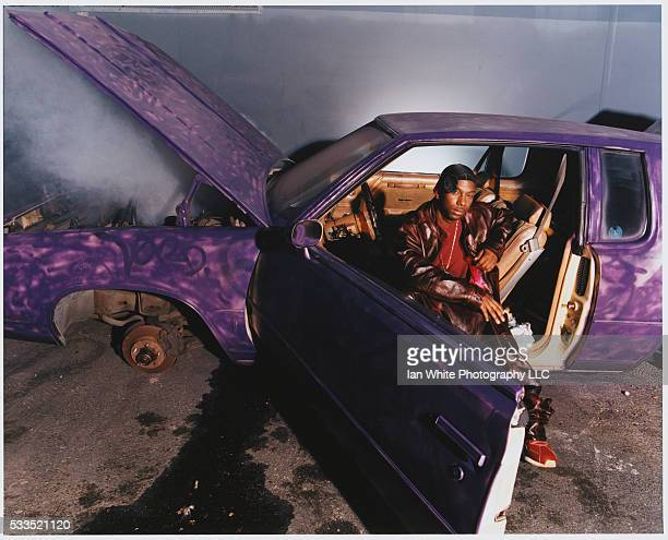 HipHop Artist Ras Kass in Smoking Sedan
