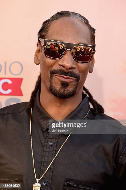 Hiphop artist Snoop Dogg attends the 2015 iHeartRadio Music Awards which broadcasted live on NBC from The Shrine Auditorium on March 29 2015 in Los...