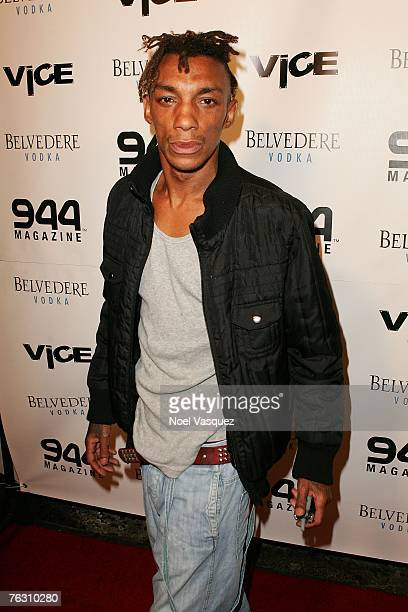 Hiphop artist Tricky attends the Grand Opening of Vice on August 23 2007 in Hollywood California