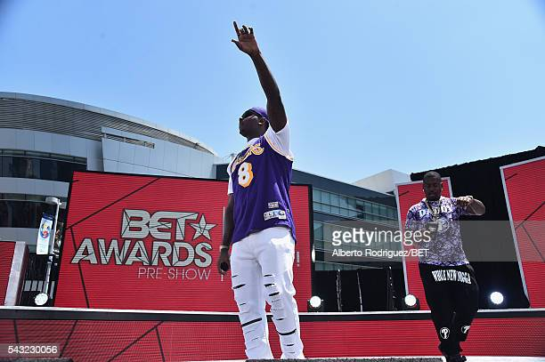 Hiphop artist YG performs at pre show at the 2016 BET Awards at the Microsoft Theater on June 26 2016 in Los Angeles California