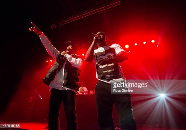 Hiphop artist's Havoc and Prodigy of Mobb Deep perform at O2 ABC Glasgow on May 10 2015 in Glasgow United Kingdom