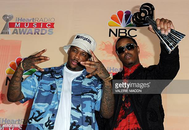 Hiphop artists YG and Jeremih winners of the Hip Hop/RB Song of the Year Award for 'Don't Tell 'Em' pose in the press room during the iHeartRadio...
