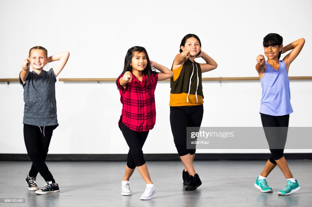 hiphop dance group of young diverse girls stock photo getty images