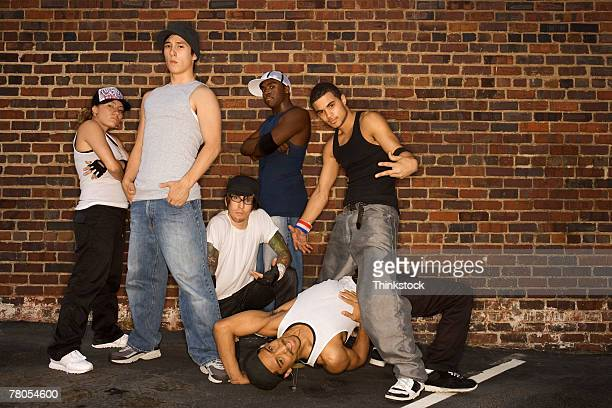 hip-hop dance troupe - dance troupe stock photos and pictures