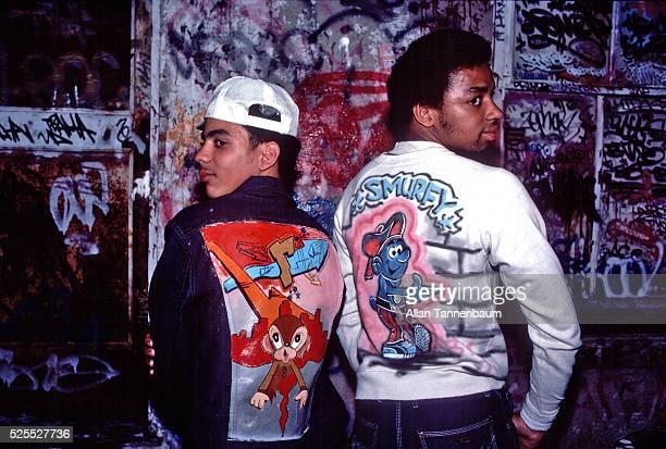 Hiphop fashion relating to graffiti art New York New York June 28 1975