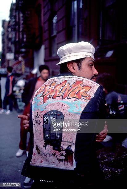 Hiphop fashion relating to subway graffiti New York New York June 28 1975