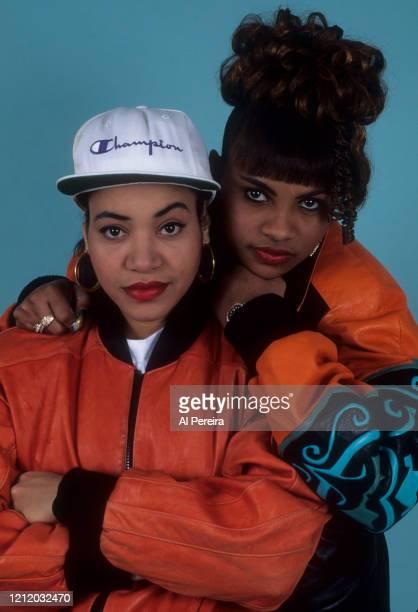 Hip-Hop group Salt 'N Pepa appear in a portrait taken on March 1, 1992 in Queens, New York. .