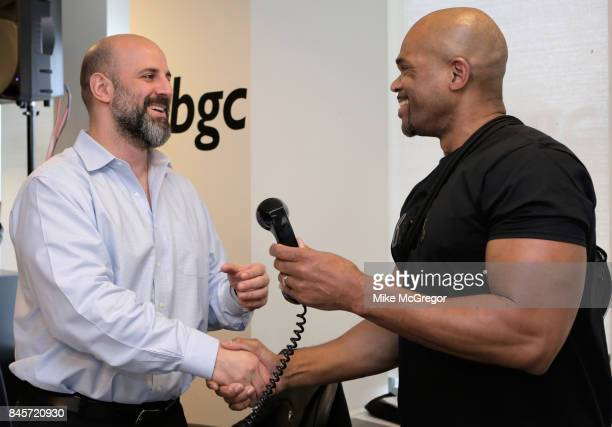 Hiphop MC Darryl 'DMC' McDaniels attends Annual Charity Day hosted by Cantor Fitzgerald BGC and GFI at BGC Partners INC on September 11 2017 in New...
