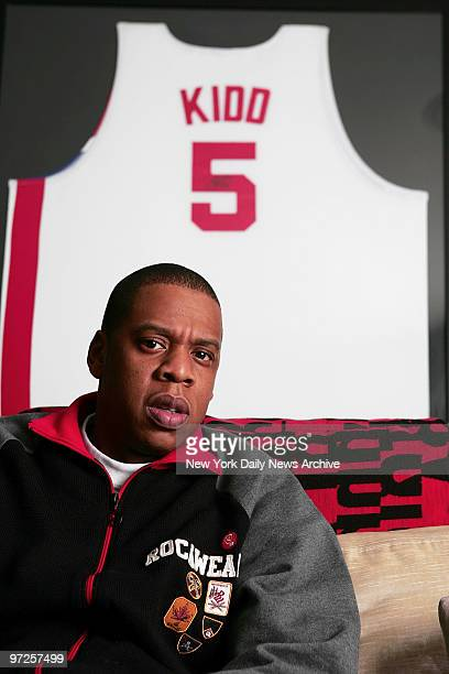 Hiphop mogul JayZ whose real name is Shawn Carter at the 40/40 Club on W 25th St in Manhattan He is coowner of the sports bar and lounge
