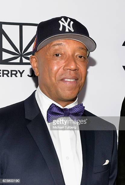 Hiphop mogul Russell Simmons attends Fusion's All Def Roast The Smoked Out Roast Of Snoop Dogg at Avalon Hollywood on November 16 2016 in Los Angeles...