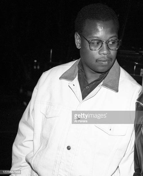 """Hip-Hop Producer Andre Harrell relaxes on the set of """"Strictly Business"""" on May 12, 1991 in New York City."""
