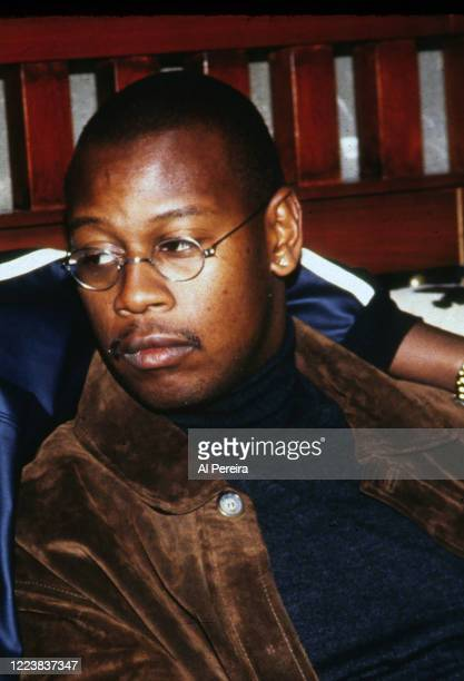 Hip-Hop Producer/Executive/Label Head Andre Harrell relaxes in a nightclub VIP area on November 12, 1994 in New York City.