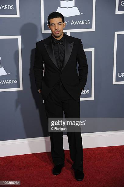 HipHop Vocalist Drake arrives at The 53rd Annual GRAMMY Awards at Staples Center on February 13 2011 in Los Angeles California