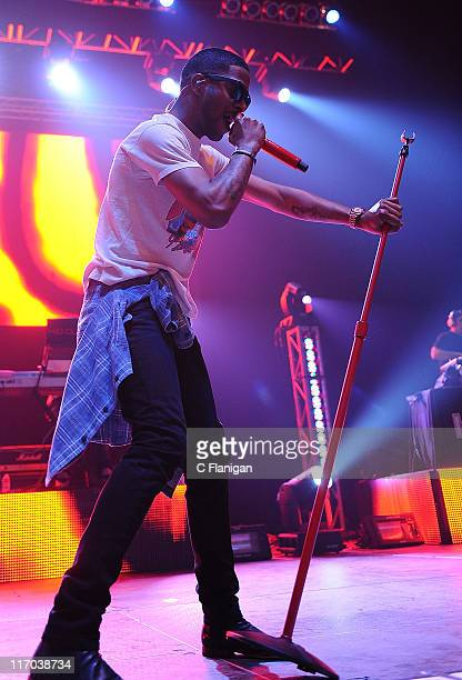 HipHop vocalist Kid Cudi performs at Bill Graham Civic Auditorium on June 19 2011 in San Francisco California