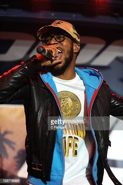 HipHop Vocalist Kid Cudi performs during the 3rd Annual Sunset Strip Music Festival on August 28 2010 in West Hollywood California