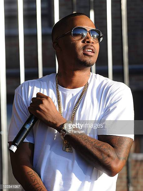 HipHop Vocalist Nas performs during the 2011 Rock The Bells Music Festival at Shoreline Amphitheatre on August 27 2011 in Mountain View California