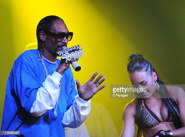 HipHop Vocalist Snoop Dogg performs at Express Rocks by Skull Candy and Vevo at Harry O's Nightclub during the 2011 Sundance Film Festival on January...