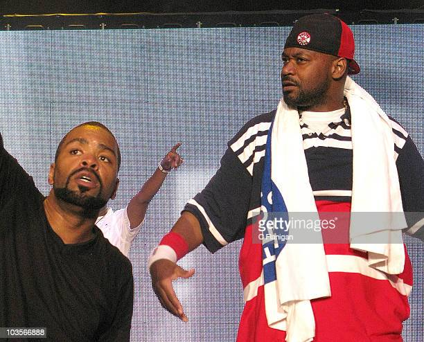 HipHop Vocalists Method Man and Ghostface Killah of the WuTang Clan perform during the 2010 Rock the Bells Music Festival at Shoreline Amphitheatre...