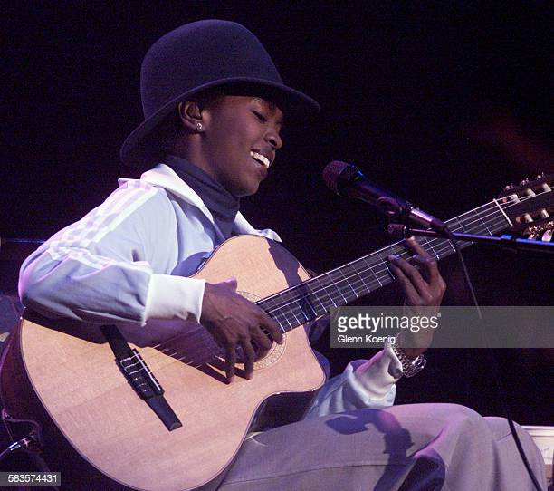 Hip–Hop/Soul singer Lauryn Hill as she performed at the Grove Theater in Anaheim
