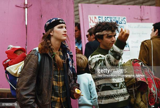 A hippie family attends the International Pop Festival at Monterey California in 1967