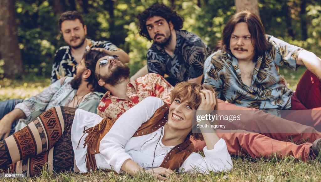 Hippie-Freunde : Stock-Foto