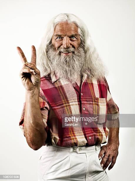 Hippie Großvater
