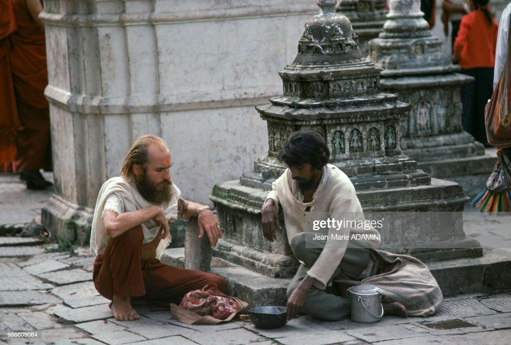 Hippie au Népal : News Photo