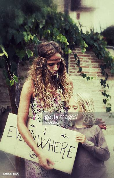 Hippie Woman and Child