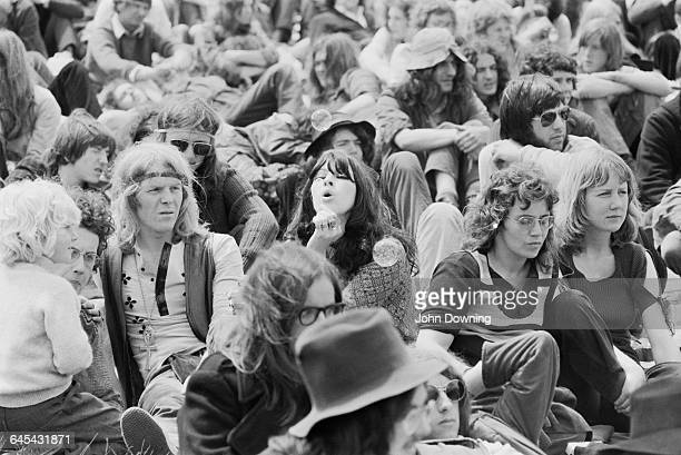 Hippies at the Reading Music Festival, UK, 27th June 1971.