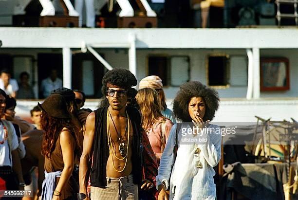 Hippies auf Ibiza 1970