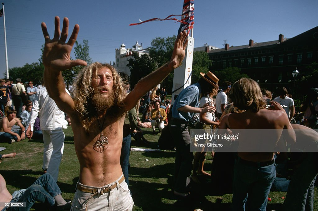 Hippies Celebrating in a Park : Stock Photo