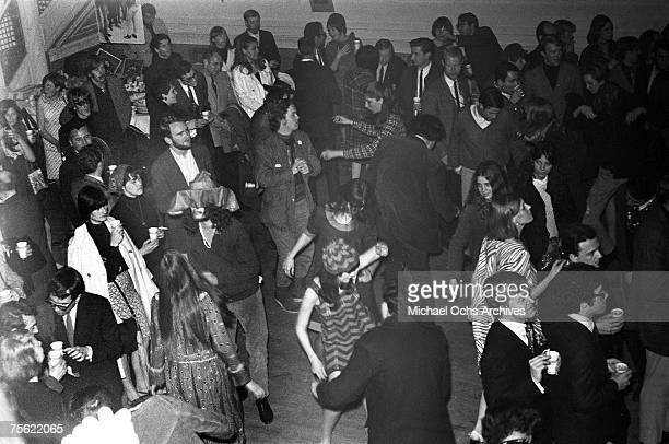 Hippies dance to the psychedelic thrum of the Grateful Dead at the Fillmore Auditorium in San Francisco California in early summer 1967