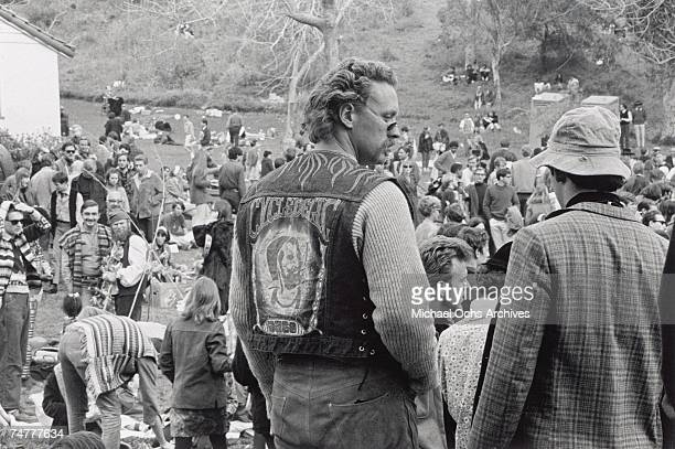 Hippies gather at Elysian Park for a 'Love-In,' a celebration of peace and love, at Eysian Park in Los Angeles, California, on March 26, 1967.