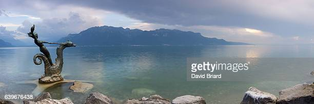 hippocampes de vevey - briard stock photos and pictures