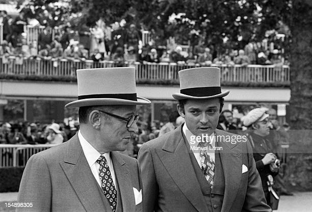 Hippodrome de Longchamps October 8 Prix de l'Arc de Triomphe in 1973 Daniel Wildenstein the owner of the horse 'Allez France' will happen the second...