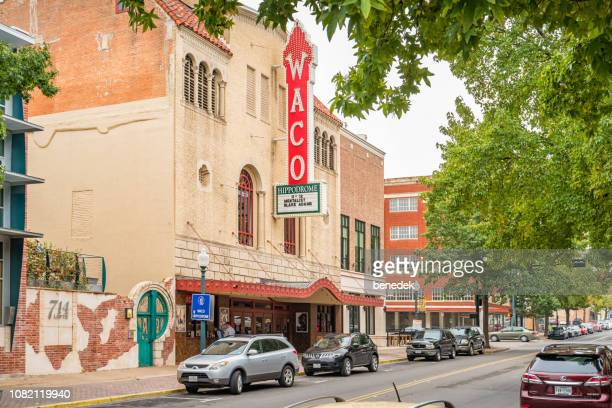 hippodrome theater in downtown waco texas usa - waco stock pictures, royalty-free photos & images