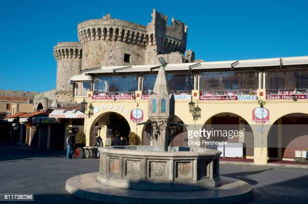 Hippokratous Square, the main square of Rhodes' Old Town.