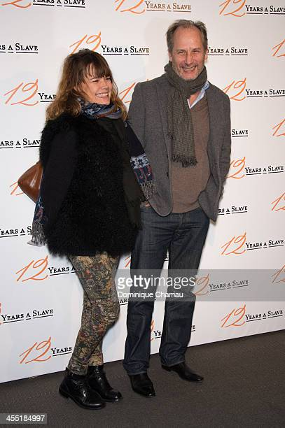 """Hippolyte girardot and his wife Kristina Larsen attend the """"12 Years A Slave"""" Paris premiere at Cinema UGC Normandie on December 11, 2013 in Paris,..."""