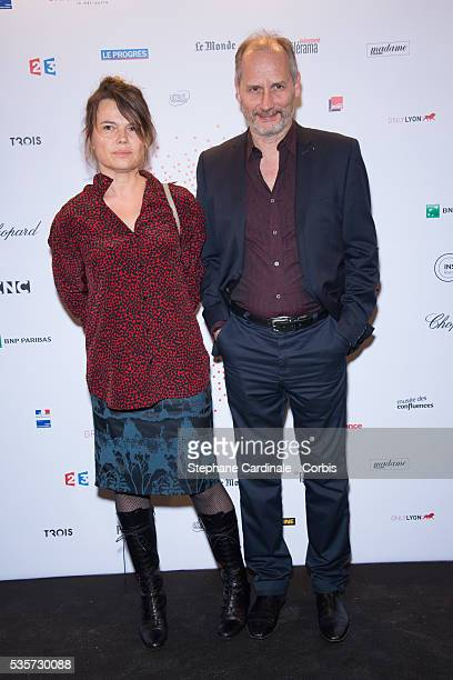 Hippolyte Girardot and his wife Kristina Larsen attend The Lumiere Le Cinema Invente exhibition preview at 'Le Grand Palais' on March 26 2015 in...