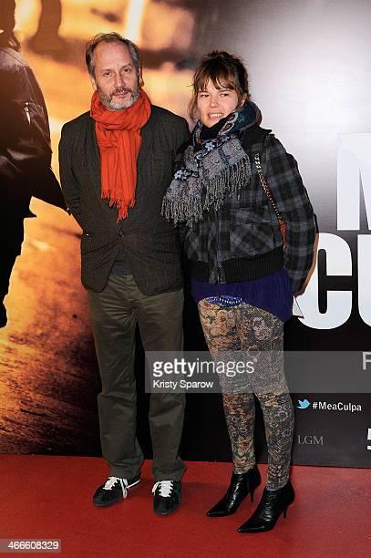 Hippolyte Girardot and Larsen Kristina attend the 'Mea Culpa' Paris Premiere at Cinema Gaumont Opera Capucine on February 2 2014 in Paris France