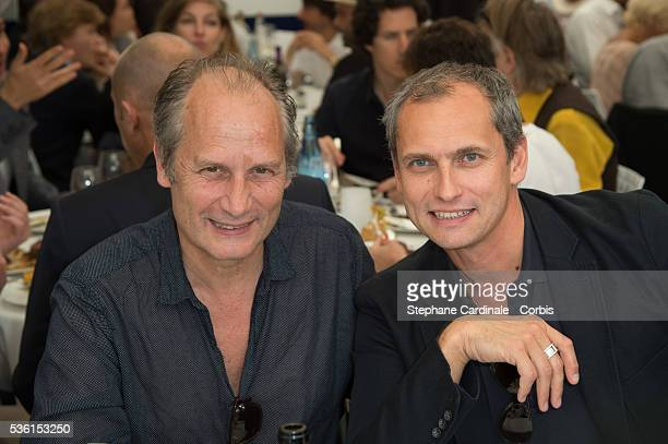 Hippolyte Girardot and Louis Laforge attend the 2015 Roland Garros French Tennis Open Day Eleven on June 3 2015 in Paris France