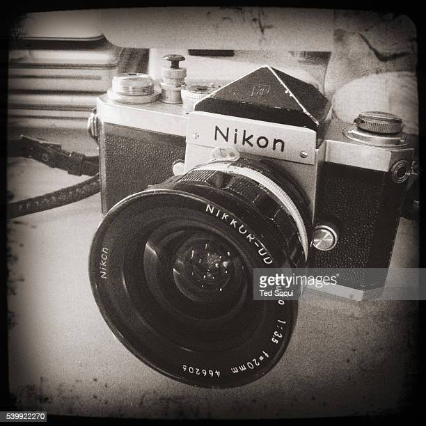 Hipstamatic image of a Nikon F film camera The Nikon F camera was very popular with photojournalist due to it's durability and ease of use The F was...
