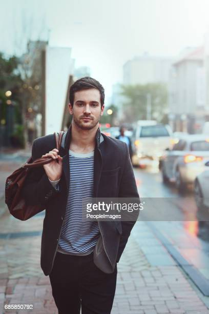 hipster about town - satchel bag stock photos and pictures