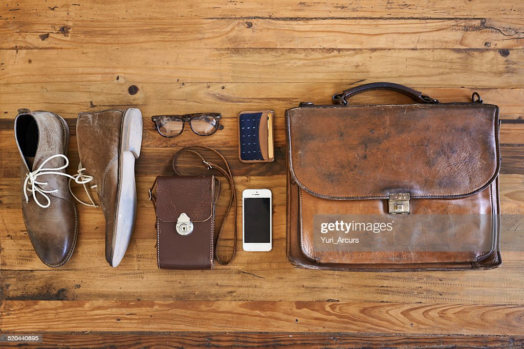 Hipster business kit : Stock Photo