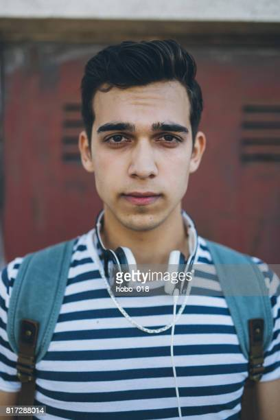 Hipster guy with headphones