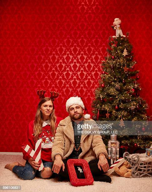 Hipster holiday photo shoot.