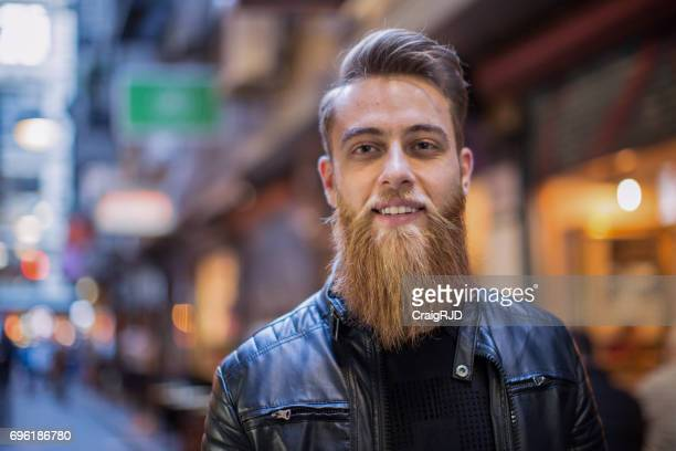 Hipster in Melbourne Inner City Laneway