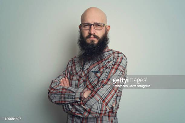 hipster man - balding stock pictures, royalty-free photos & images