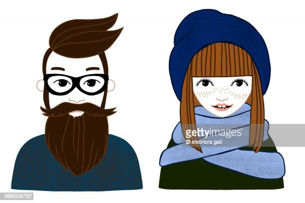 hipster peolple - people icons stock pictures, royalty-free photos & images