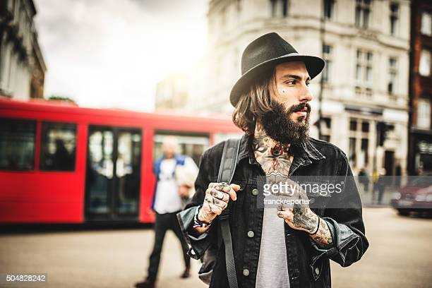 Hipster Solo traveler in Camden town London
